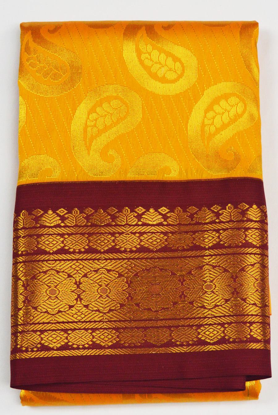 Temple Art Silk  Saree 6073