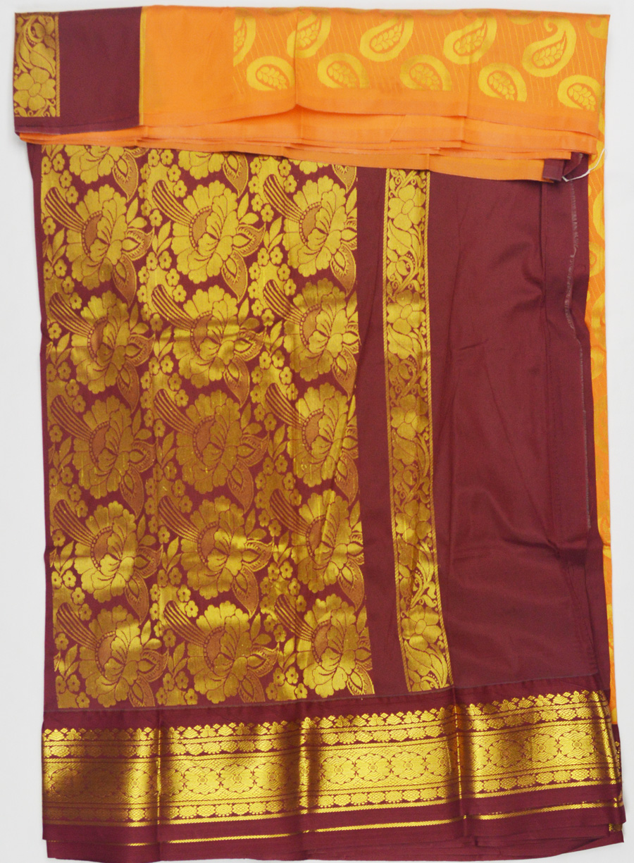 Temple Art Silk Saree 6074