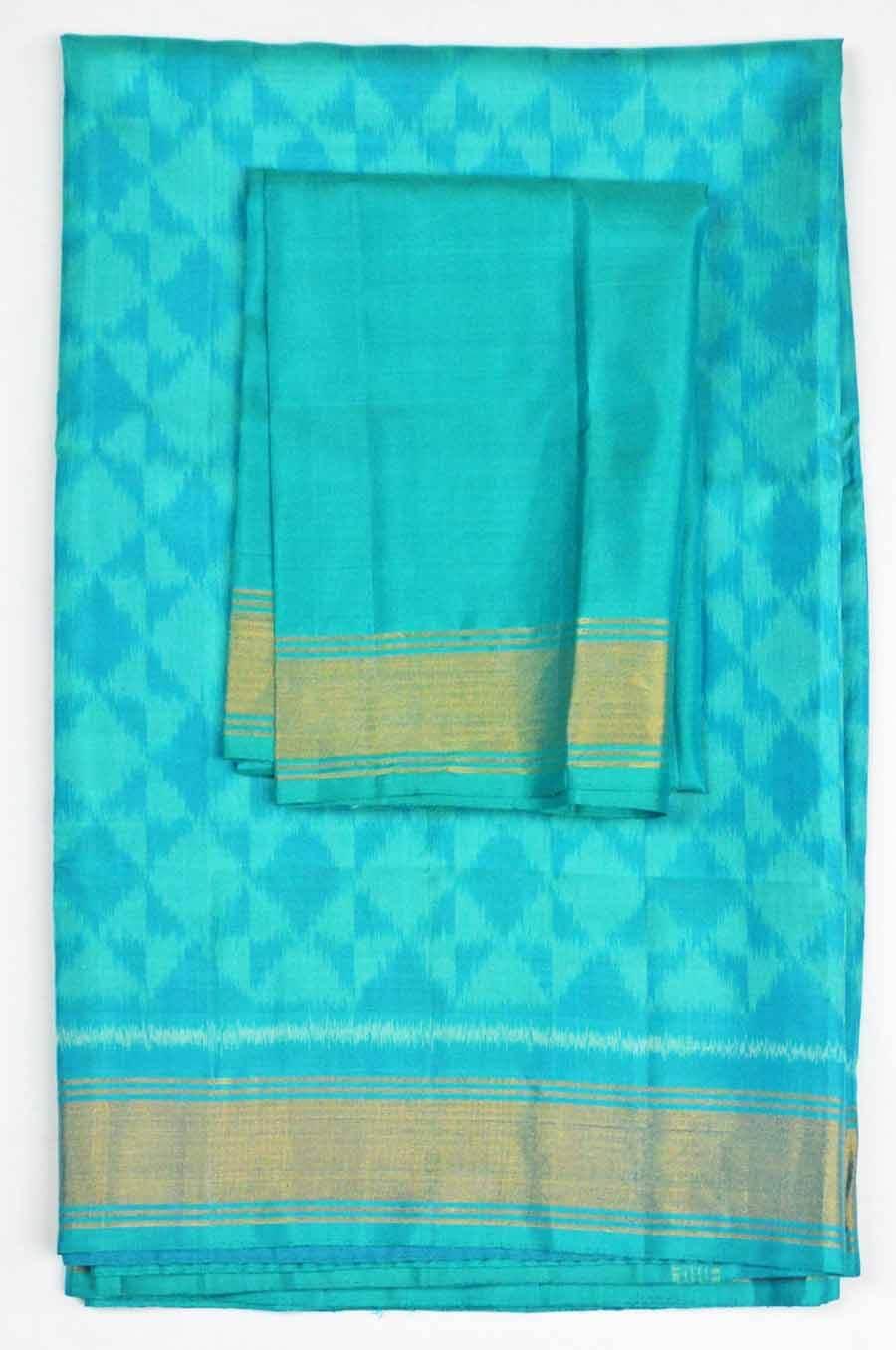 Soft Silk Ikkat Saree 7190