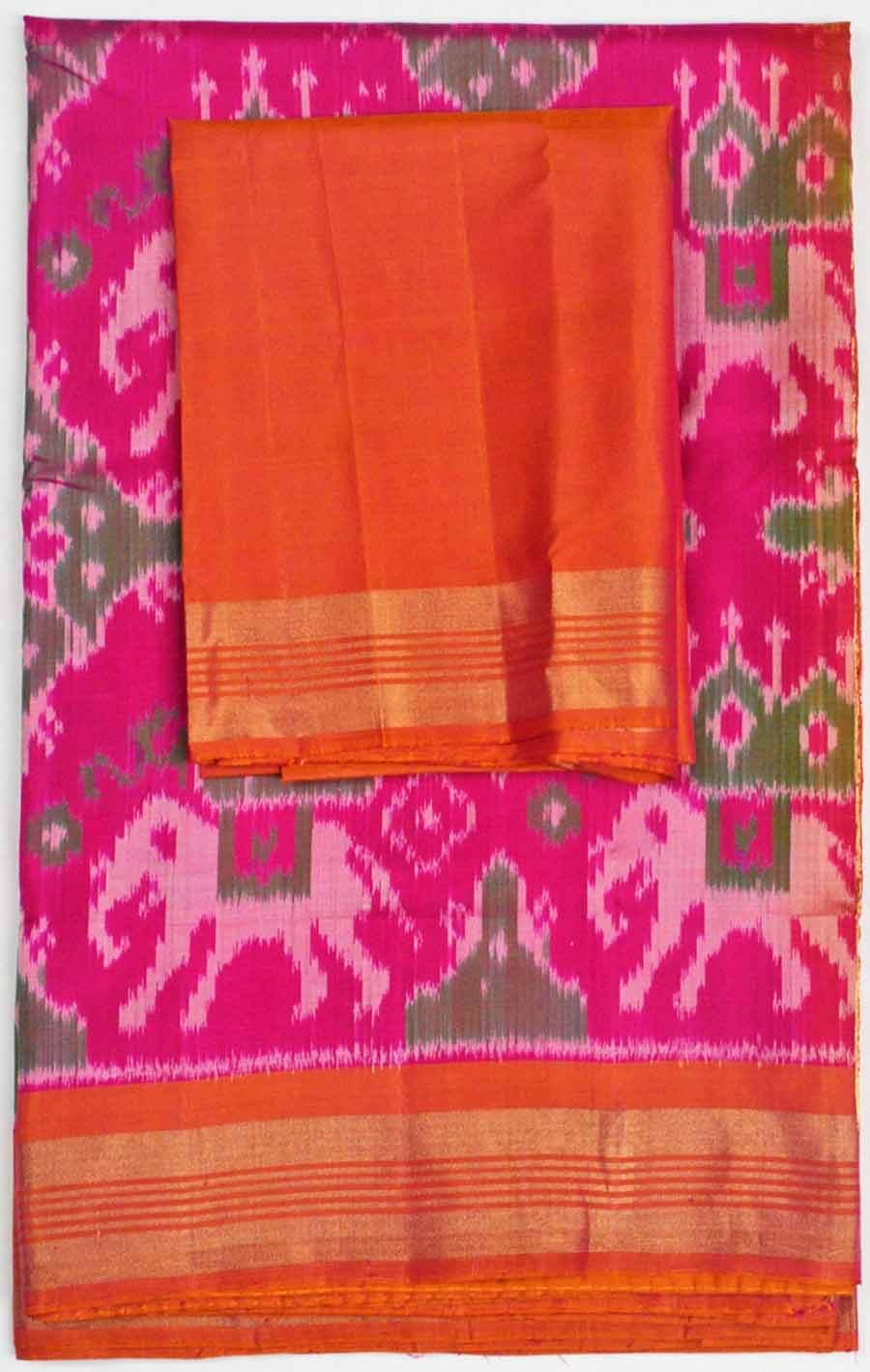 Soft Silk Ikkat Saree 7187