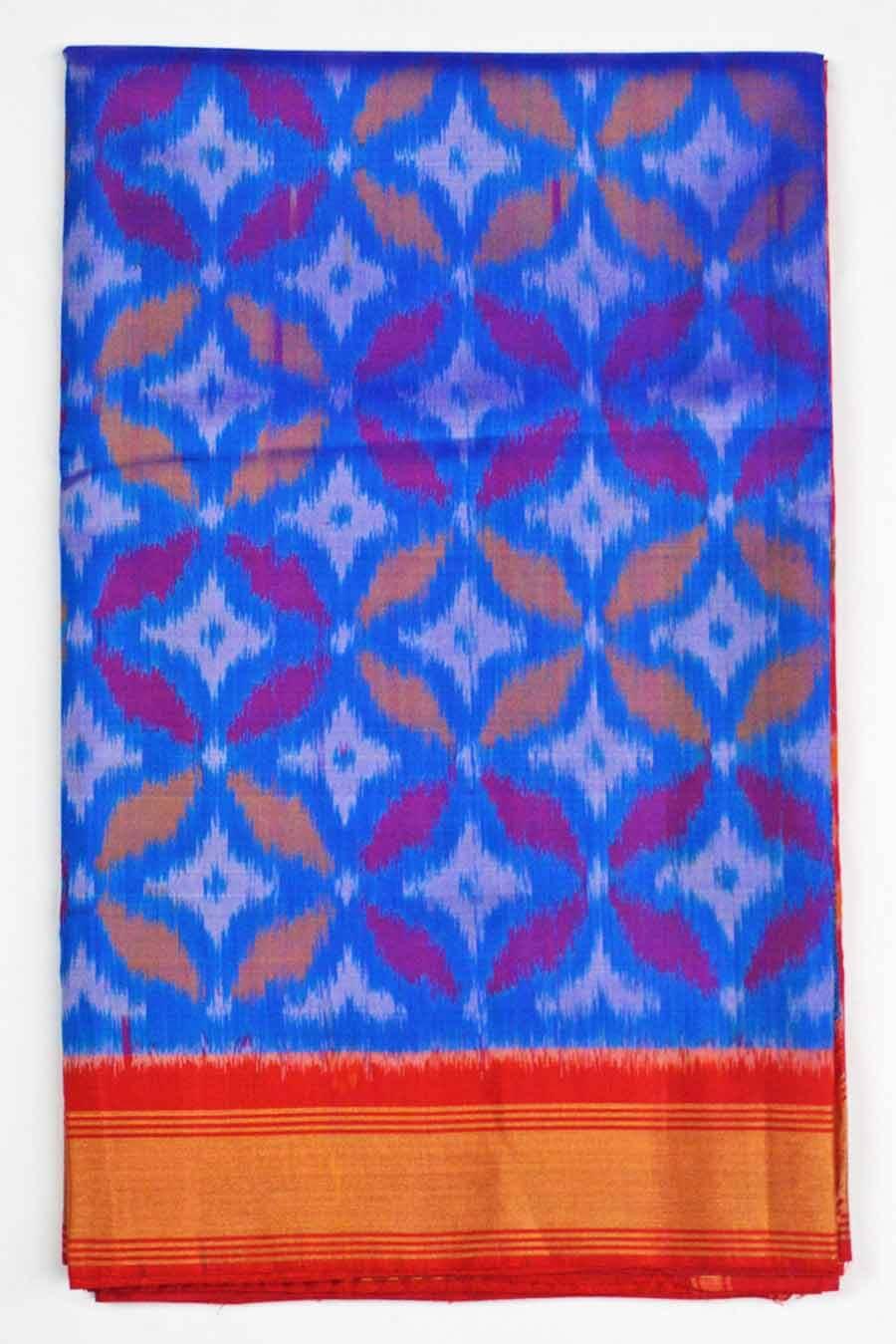 Soft Silk Ikkat Saree 7183