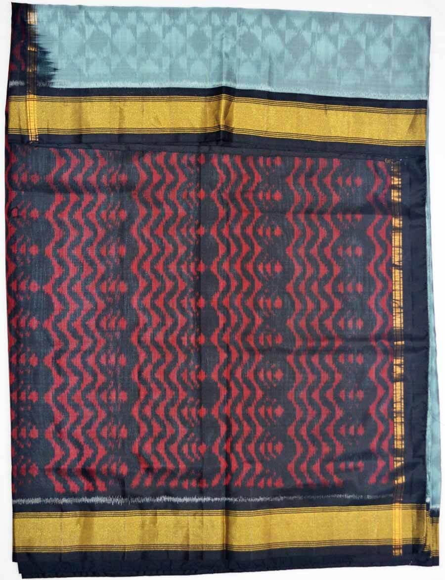 Soft Silk Ikkat Saree 7191
