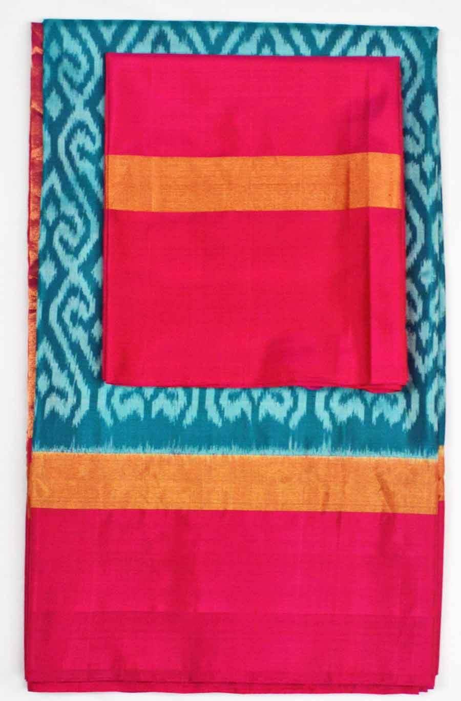 Soft Silk Ikkat Saree 7192